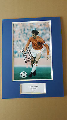 JOHAN CRUYFF Original Hand Signed Mount Huge 16x12' With COA  - SALE-