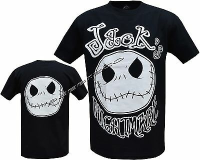 New Jack Nightmare Before Christmas NBC T- Shirt Front & Back Print M - XL