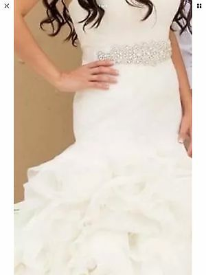 Ivory Wedding Dress Rhinestone Bridal Sash Belt