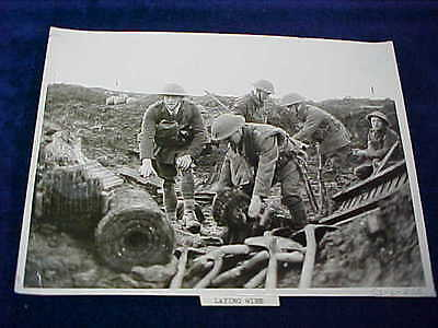 Orig WW1 R/P British Western Front Laying Barbed Wire