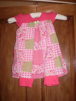 George pink dress with bodysuit Size 12-18 mths