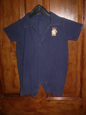 George navy short play suit Size 12-18 mths