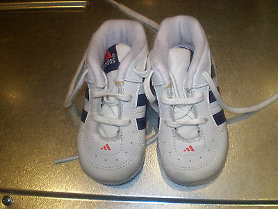 Adidas white trainer booties Size 3