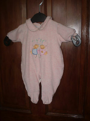 Bhs pink babygro Size 56 cms