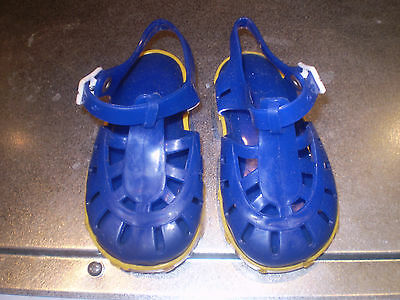 Mothercare blue baby jelly shoes Size 4
