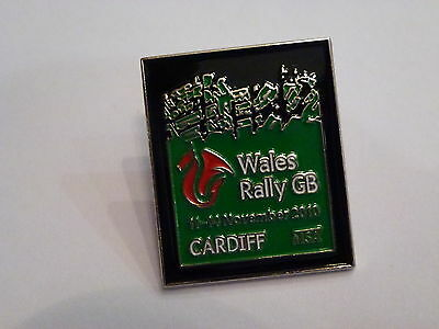 Wales Rally Gb 2010 Official Lapel Pin Badge *rare*