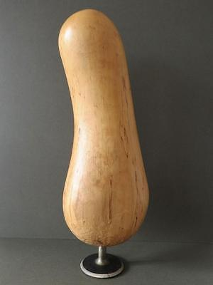 Vintage Modernist Wood Sculpture Abstract Hand Carved Erotic Figurine
