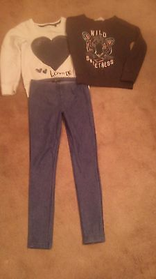 Girls Next, New look, H&M bundle,tops & Jeggings size 9 years