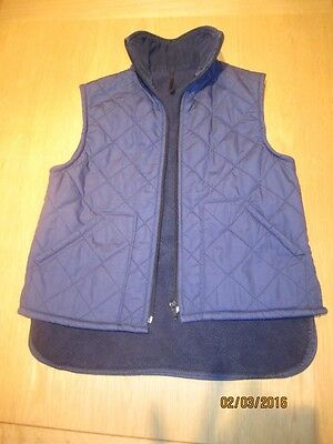 Girls Navy Quilted Gilet (Size 28)