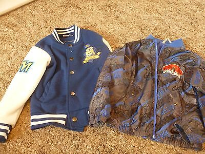 Pair of Boys Blue Jackets - Aged 4-5 Years - 1 x Minion / 1 x Spider-Man