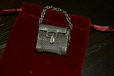 Vintage Miniature Silver Plate Chatelaine Purse~Deceased Estate