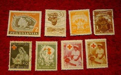 Vintage Postage Stamps of Yugoslavia Job Lot
