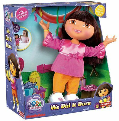 Fisher-Price Dora the Explorer We Really Did It Dora Doll..New In The Box!!!