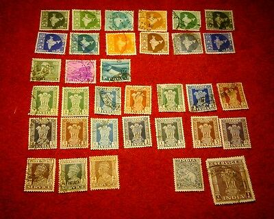 Vintage Postage Stamps of India Job Lot