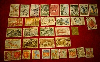 Vintage Postage Stamps of France Job Lot
