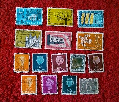 Vintage Postage Stamps of the Netherlands Job Lot