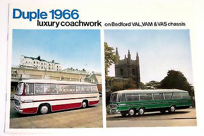 DUPLE 1966 COACH BODIES on BEDFORD VAL VAM VAS CHASSIS BROCHURE - MINT CONDITION