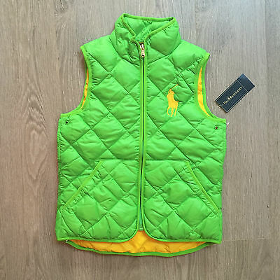 BNWT Girls Gorgeous Ralph Lauren body warmer 7 years 100% Genuine