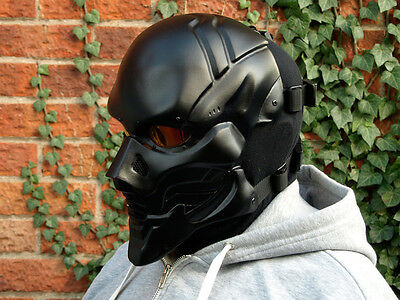 HA Goliath Full Face Black (M) Airsoft BB Army Cosplay DJ Rave Mask - In Stock -