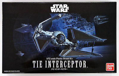 Bandai Star Wars Tie Interceptor 1/72 scale kit 080992