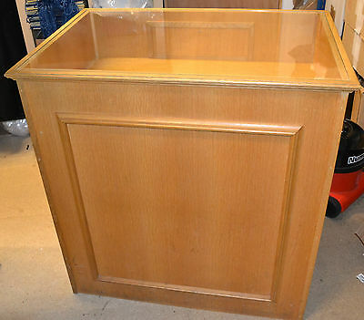 Shop Counter - Shop Display Counter - Retail Shop Counter- Solid Oak Wood