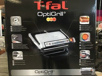 T-Fal Gc704 Optigrill W/ Recipe Books Indoor Electric Grill Removable Plates