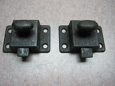 2 cabinet latch antique BLACK  COLOR jelly catch rustic cupboard NO KEEPERS