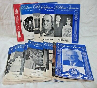 25 California Freemason Booklets, 1950's -1960's