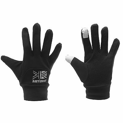 New Karrimor Thermal Black Gloves Size M/l Ladies Outdoor Running Touch Screen