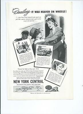 1941 NEW YORK CENTRAL Vintage Railroad Magazine Print Ad
