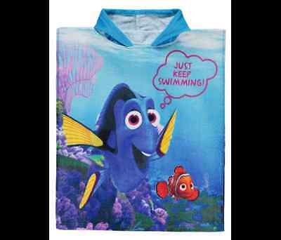 Finding Dory Nemo Hooded Towel Poncho Kids 100% Cotton Beach Bath Pool New