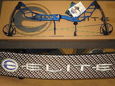 """ELITE IMPULSE 34 Archery 3D Bow 27"""" to 31"""" Right Hand 50# to 60# Target Blue"""