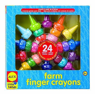ALEX Toys - Early Learning Farm Finger Crayons - Little Hands 1480