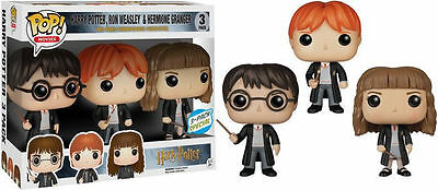 Funko Pop Harry Potter, Ron Weasley, Hermione Granger 3 pack FREE SHIPPING! (US)