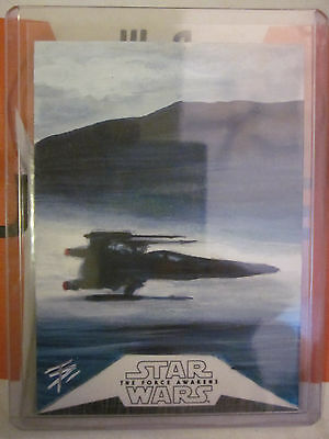Topps Star Wars Chrome Force Awakens Sketch Autograph Card Tim Proctor X-Wing