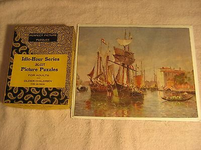 "1930's Perfect Picture Puzzle Idle Hour  Series ""in The Harbor Venice"""