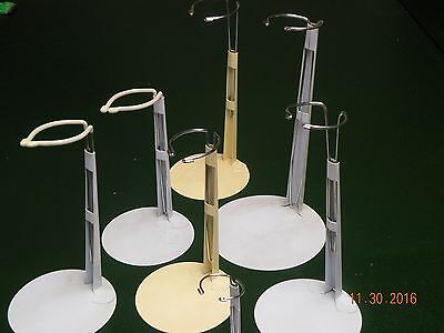 Lot of 7 Doll Stands