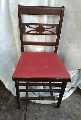Mid Century Modern Retro  FOLDING SIDE CHAIR Antique