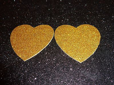 Nipple Covers / Pasties Glitter Gold Hearts