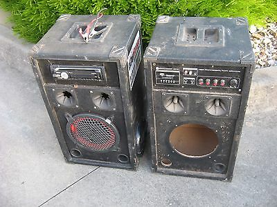 "2 x SPEAKER BOXES, 1 WITH SONY XPLOD CAR STEREO & SPEAKERS ""Unclaimed Storage"""