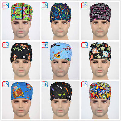 medical surgical skull chem scrub caps/hats-pixie-plane-fox-olws-limited edtion