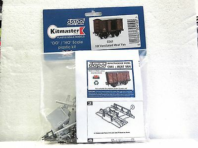 DAPOL KITMASTER HO OO scale model kit 10t VENTILATED MEAT VAN #C041 New in pack