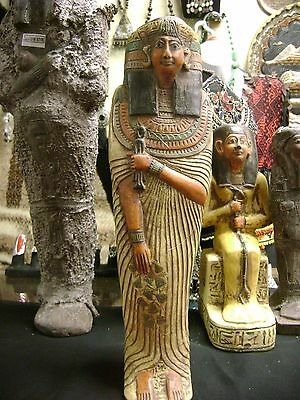 Vintage  Large Egyptian Statue Goddess Isis  Hand Carved  Made in Egypt