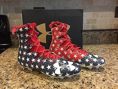 Under Armour Freedom Stars Stripes USA Flag WWP Football Cleats Highlight Shoes
