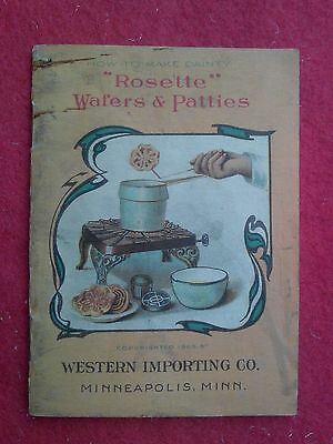 "1905 ""Rosette"" Wafers & Patties by Western Importing Recipes"