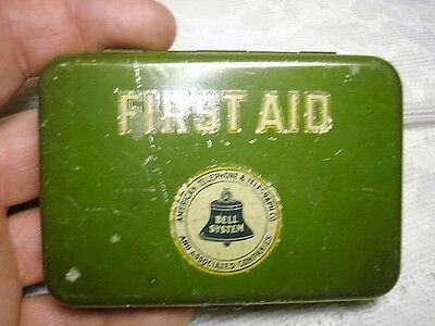 Vintage Tin FIRST AID KIT Bell System American Telephone Telegraph Company