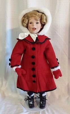 17 in SHIRLEY TEMPLE THE LITTLE CARROLER PORCELAIN DOLL