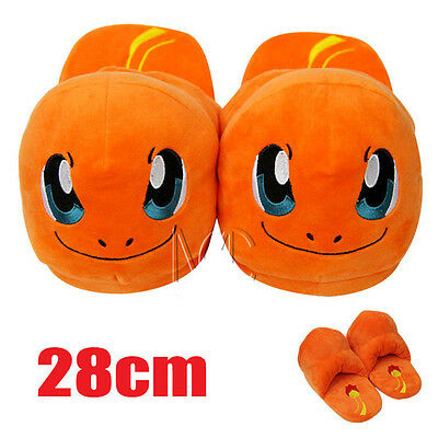 Pokemon Charmander Soft Plush Heel without Cover Slippers Shoes for Adult