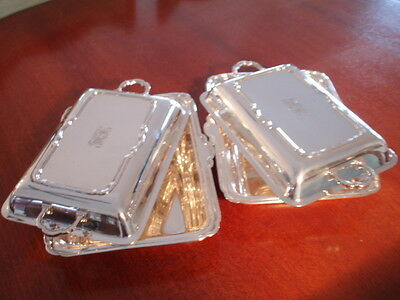 Two Impressive Sets Of Sterling Silver Entree Dishes:  Wonderful For Christmas!