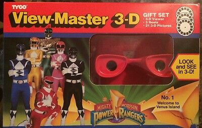 TYCO 3D View-Master ~ Mighty Morphin Power Rangers Welcome to Venus Island Reels